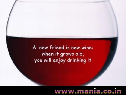 A new friend is new wine. when it grows old. you will enjoy drinking it
