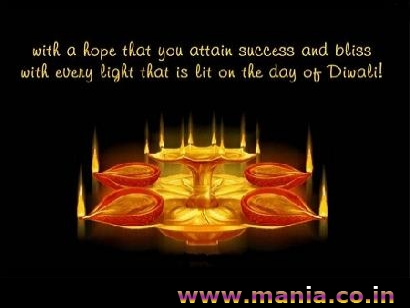 with a hope that you attain success and bliss with every light that is lit on the day of Diwali