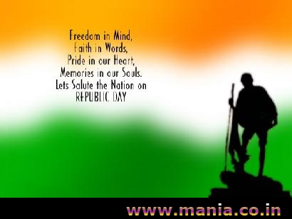 freedom in Mind, faith in words, pride in our heart, Memories in our Souls. Lets Salute the Nation on Republic Day