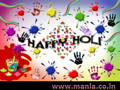 Happy Holi colorful hands