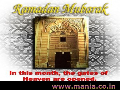 Ramjan Mubarak! In this month, the gates of Heaven are opened.
