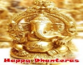 Happy Dhanteras Gold Ganpati Sta
