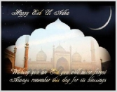 Happy Eid Ul Adha, Wishing You An Eid You Will Never Forget Always Remember This Day For Its Blessings.
