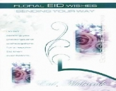 Floral EID Wishes Sending Your Way