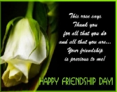 This Rose Says Thank You For All That You Do  And All That You Are Your Frindship Is Precious To Me. Happy Friendship Day