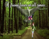 FRIENDSHIP DAY PROVERBS A FRIEND LOVES AT ALL TIMES. FEAR NOT, FOR I AM WITH YOU