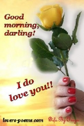 Good Morning Darling I Do Love You