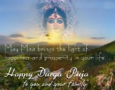 May Maa Brings The Light Of Happiness And Prosperity In Your Life. Happy Durga Puja To You And Your Family