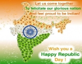 LET US COME TOGETHER TO FELICITATE OUR GLORIOUS NATION AND FEEL PROUD TO BE INDIAN! WISH YOU A HAPPY REPUBLIC DAY!