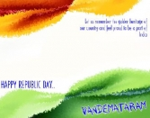 LET US REMEMBER THE GOLDEN HERITAGE OF OUR COUNTRY AND FEEL PROUD TO BE A PART OF INDIA. HAPPY REPUBLIC DAY. VANDEMATARAM