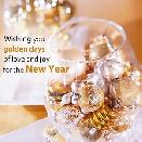 WISHING YOU GOLDEN DAYS OF LOVE AND JOY FOR THE NEW YEAR