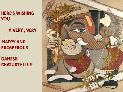 Here's Wishing You A Very, Very Happy And Prosperous Ganesh Chaturthi