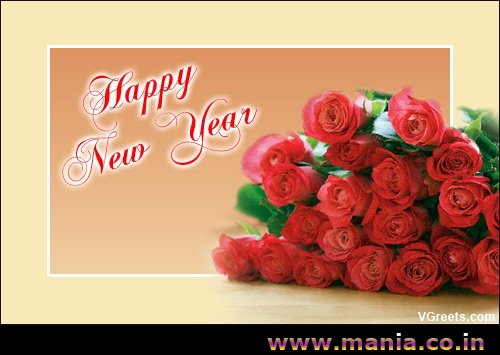 Happy New Year Rose Greeting  Mania Picture Gallery  Mania